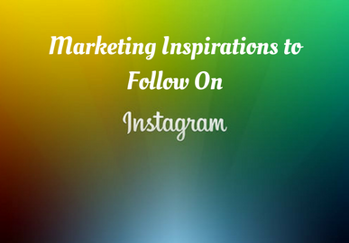 The Marketing Inspirations to Follow On Instagram