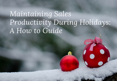Maintaining Sales Productivity during Holiday: A How to Guide