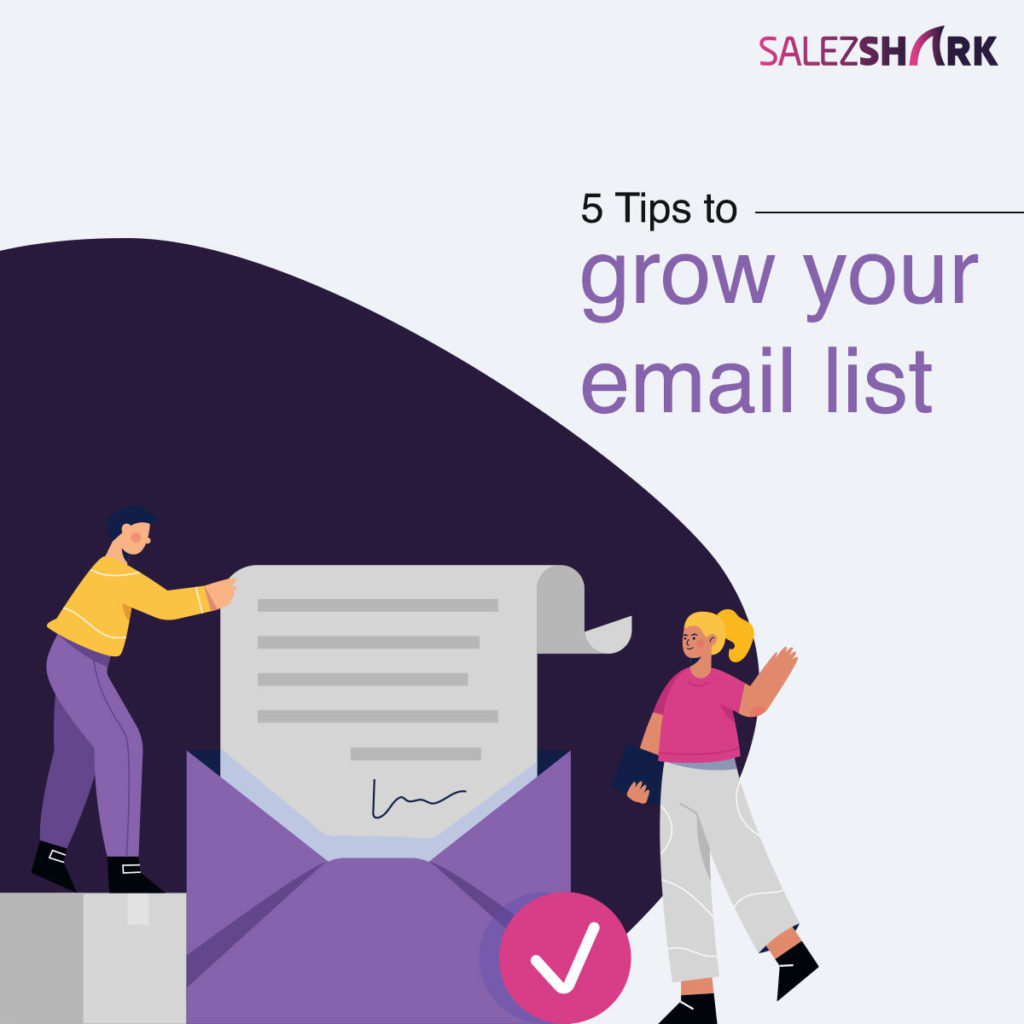 5 Tips to grow your email list
